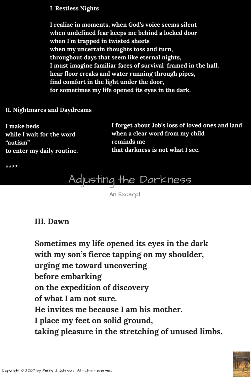 Adjusting the Darkness