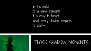 Those Shadow Moments Blog Title