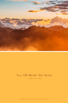 You Will Never Be Alone 1